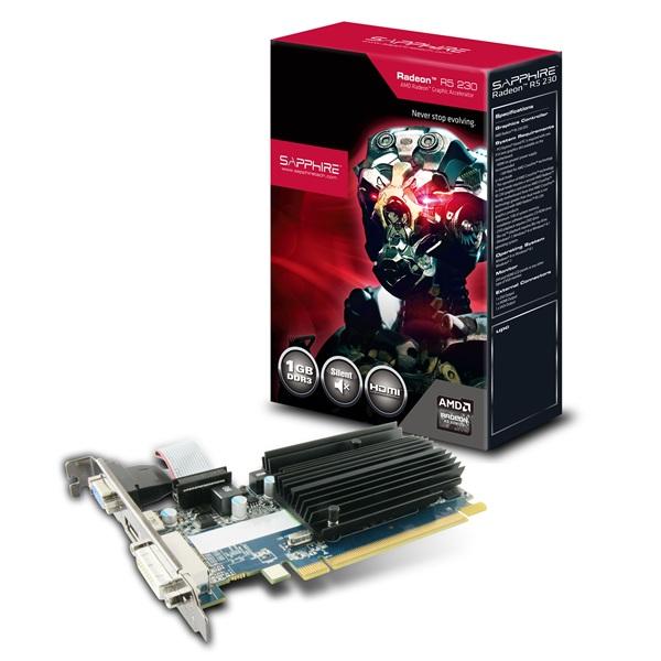 SAPPHIRE AMD R5 230 1GB D3/HDMI/DVI/VGA