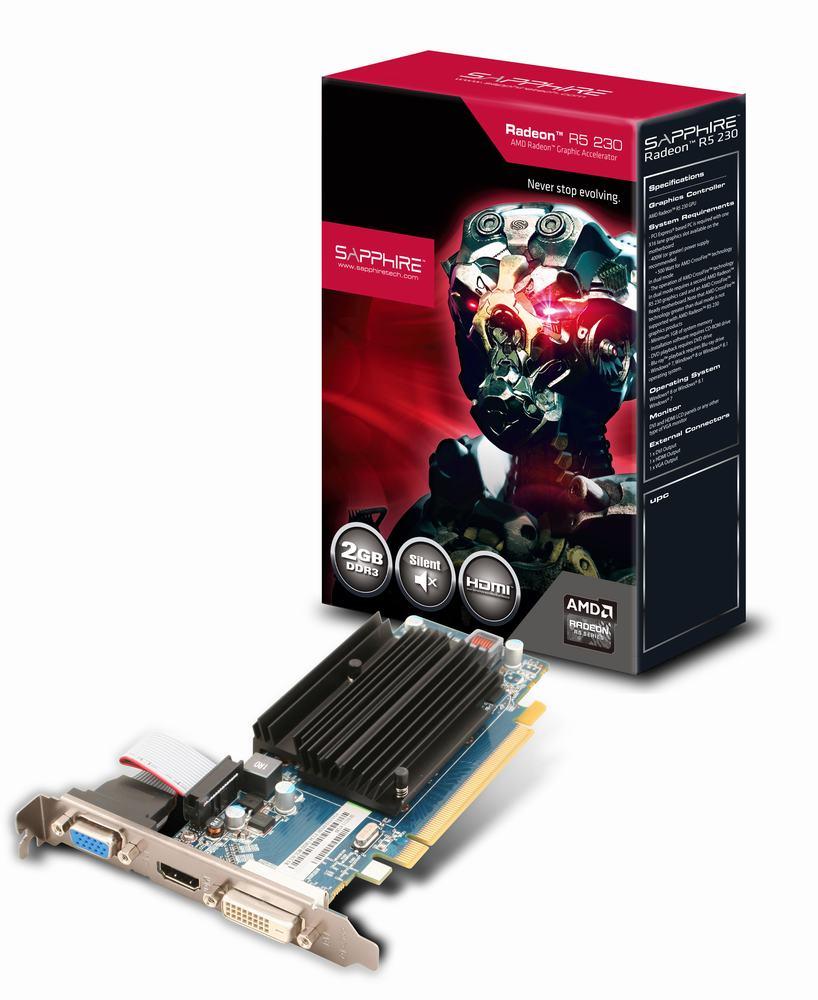 SAPPHIRE AMD R5 230 2GB D3/HDMI/DVI/VGA