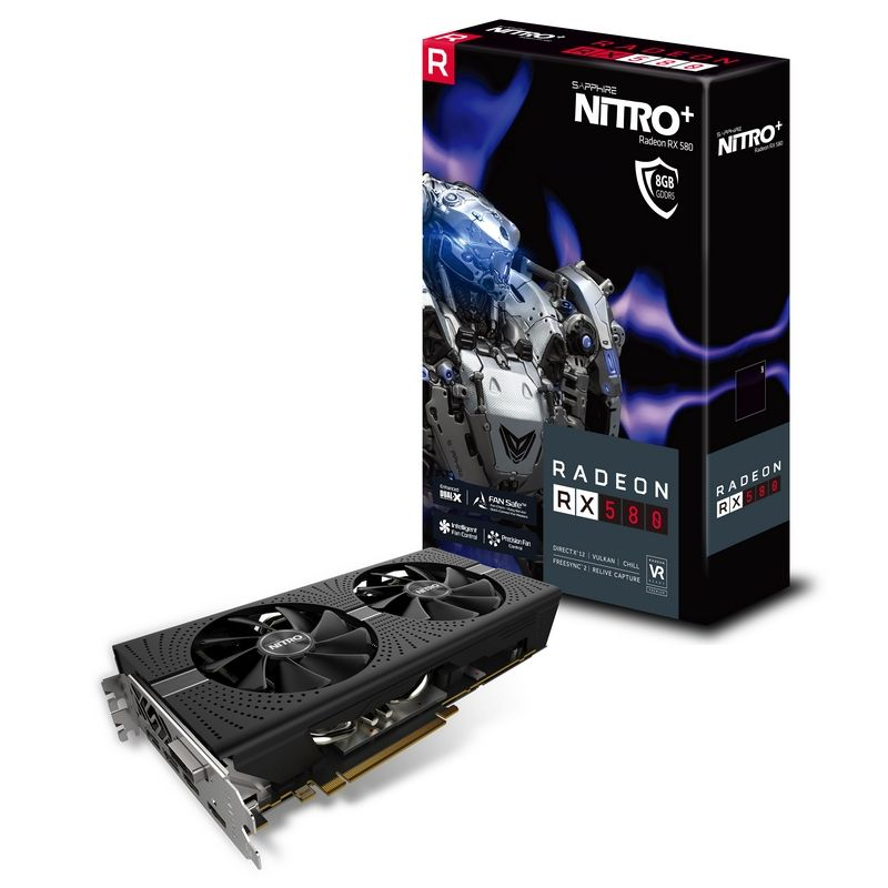 SAPPHIRE AMD NITRO+ RADEON RX 580 8GB DDR5 PCI-E - VIDEO CARD - 11265-01-20G