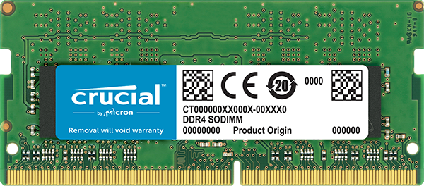 CRUCIAL 4GB DDR4 2400MHZ SO-DIMM - COMPUTER MEMORY - CT4G4SFS824A