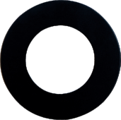 Super Thin Puck Light Trim - Black