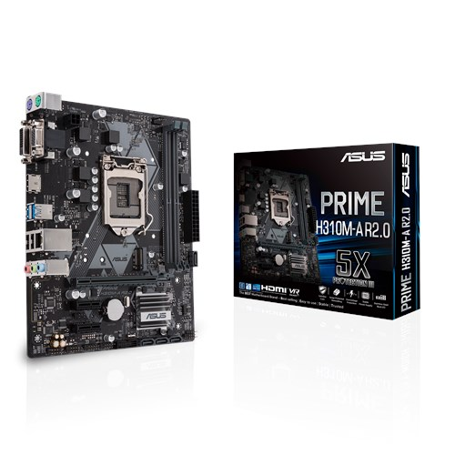 ASUS H310/S1151/9/8th CPU/M.2/HDMI+DVI+