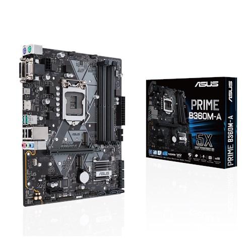 ASUS B360/S1151/9/8th CPU/D4x4/2M.2/DVI