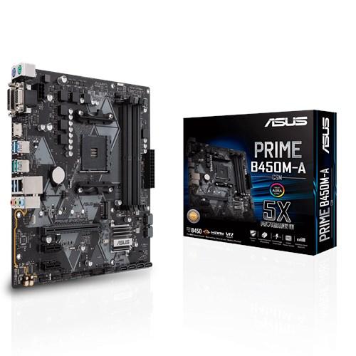ASUS AMD B450/AM4/D4*4/RD/M.2/DVI/HDMI