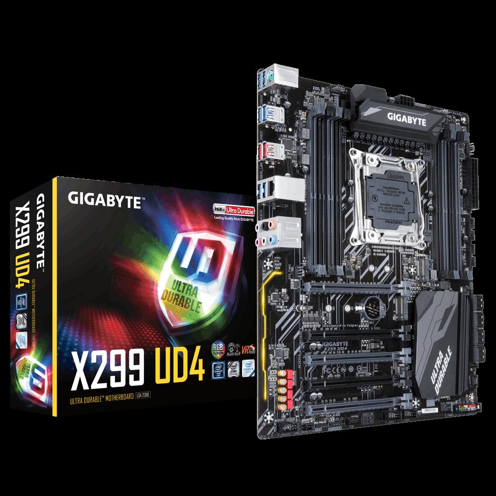 GIGA X299/S2066/CoreX/DDR4/RD/2xM.2/AUD