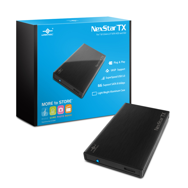 """VANTEC NEXSTAR TX 2.5"""" SATA-U3 (BLACK)"""