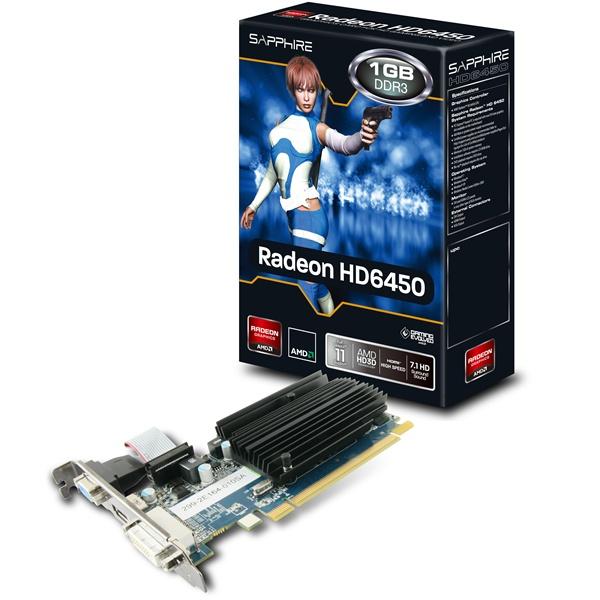 SAPPHIRE HD6450 1GB D3/HDMI/DVI/VGA