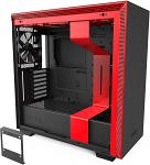NZXT H710 - ATX Mid Tower PC Gaming Case - Front I/O USB Type-C Port - Quick-Release Tempered Glass Side Panel - Cable Management System - Water-Cooling Ready - Steel Construction - Black/Red