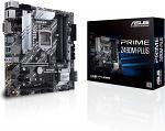 ASUS Prime Z490M-PLUS LGA 1200 (Intel® 10th Gen) Z490 Micro ATX Motherboard (dual M.2, DDR4 4600, 1 Gb Ethernet, USB 3.2 Gen 2 USB Type-A®, Thunderbolt™ 3 support, Aura Sync RGB)
