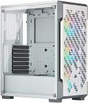 Corsair Icue 220T RGB Airflow Tempered Glass Mid-Tower Smart Case, White CC-9011174-WW